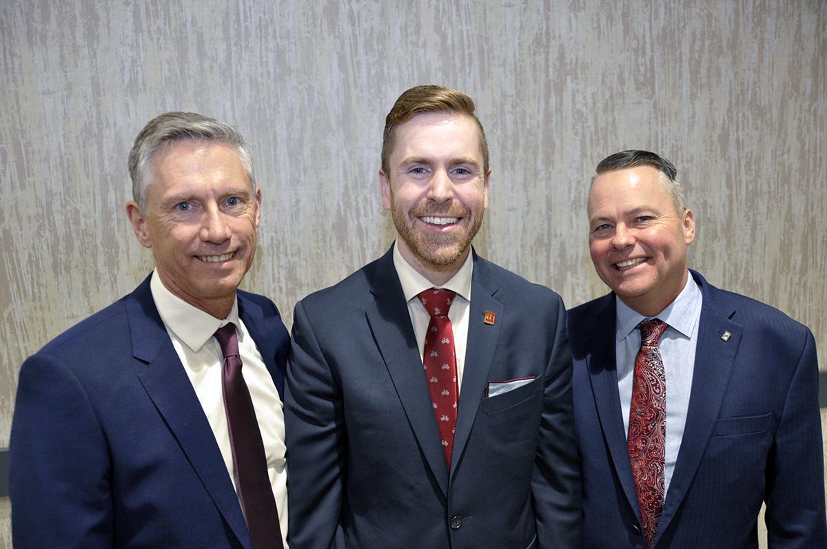 (L-R) Larry Anderson, Vice President; Darin Germyn, President; Chris Shields, President-Elect.