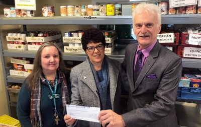 Food Bank Cheque Presentation