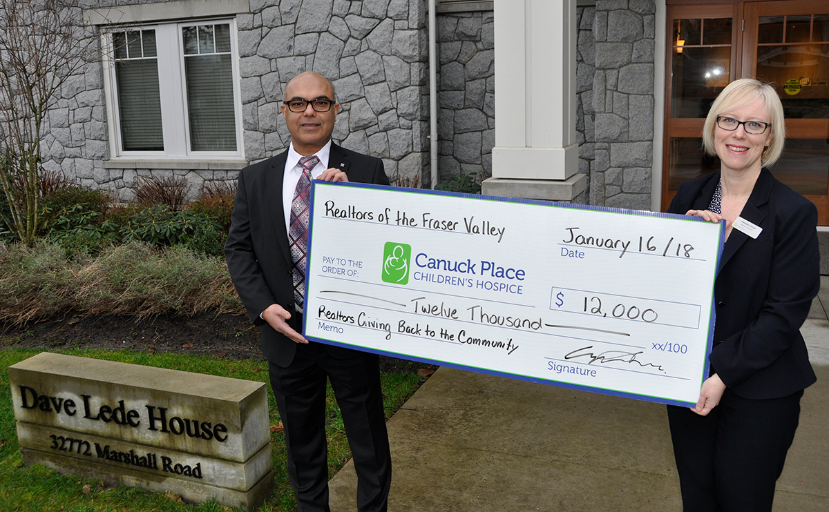 Fraser Valley REALTORS® donate $12,000 to Canuck Place Children's Hospice in Abbotsford