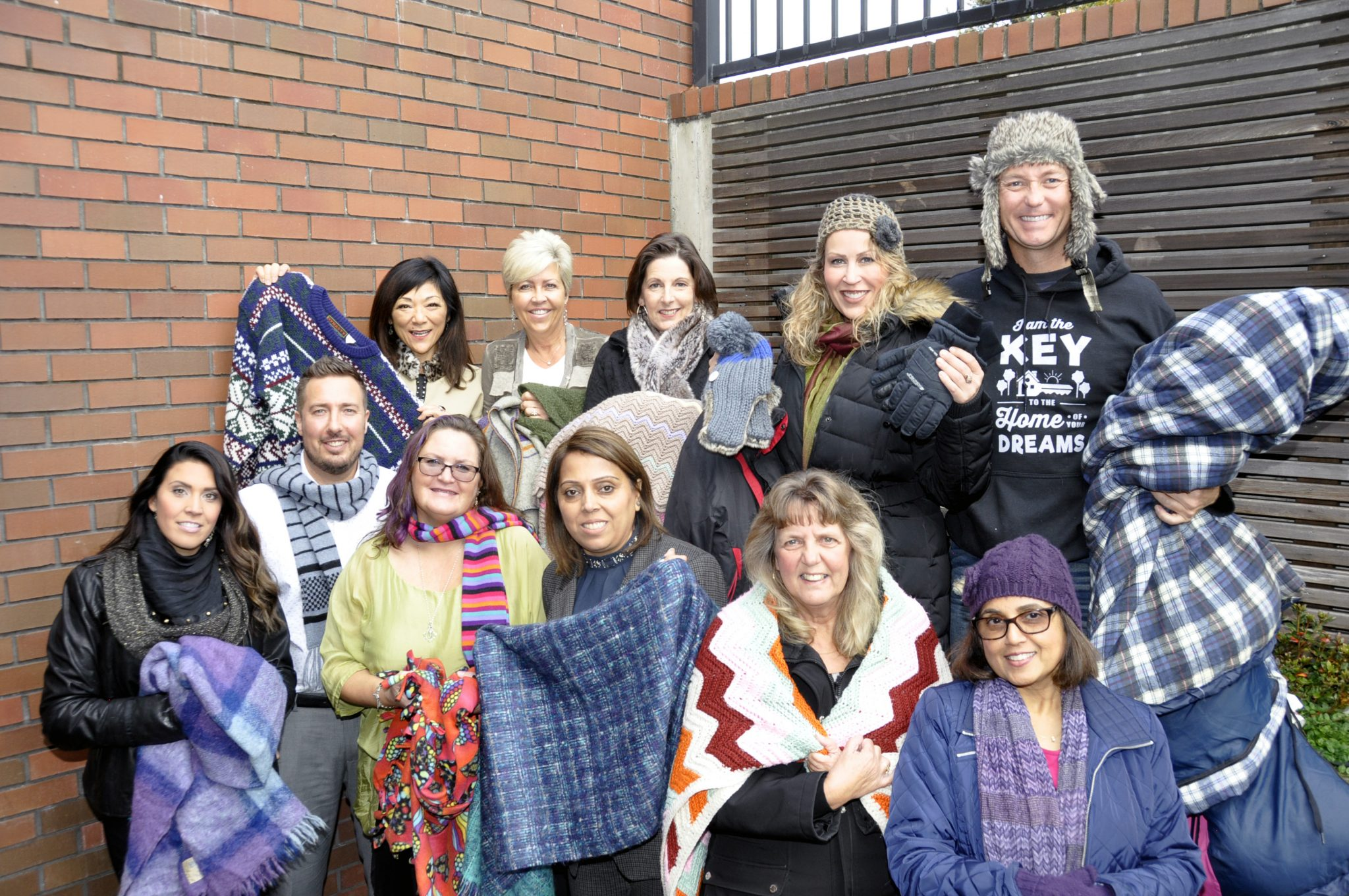 Volunteers for the Blanket Drive