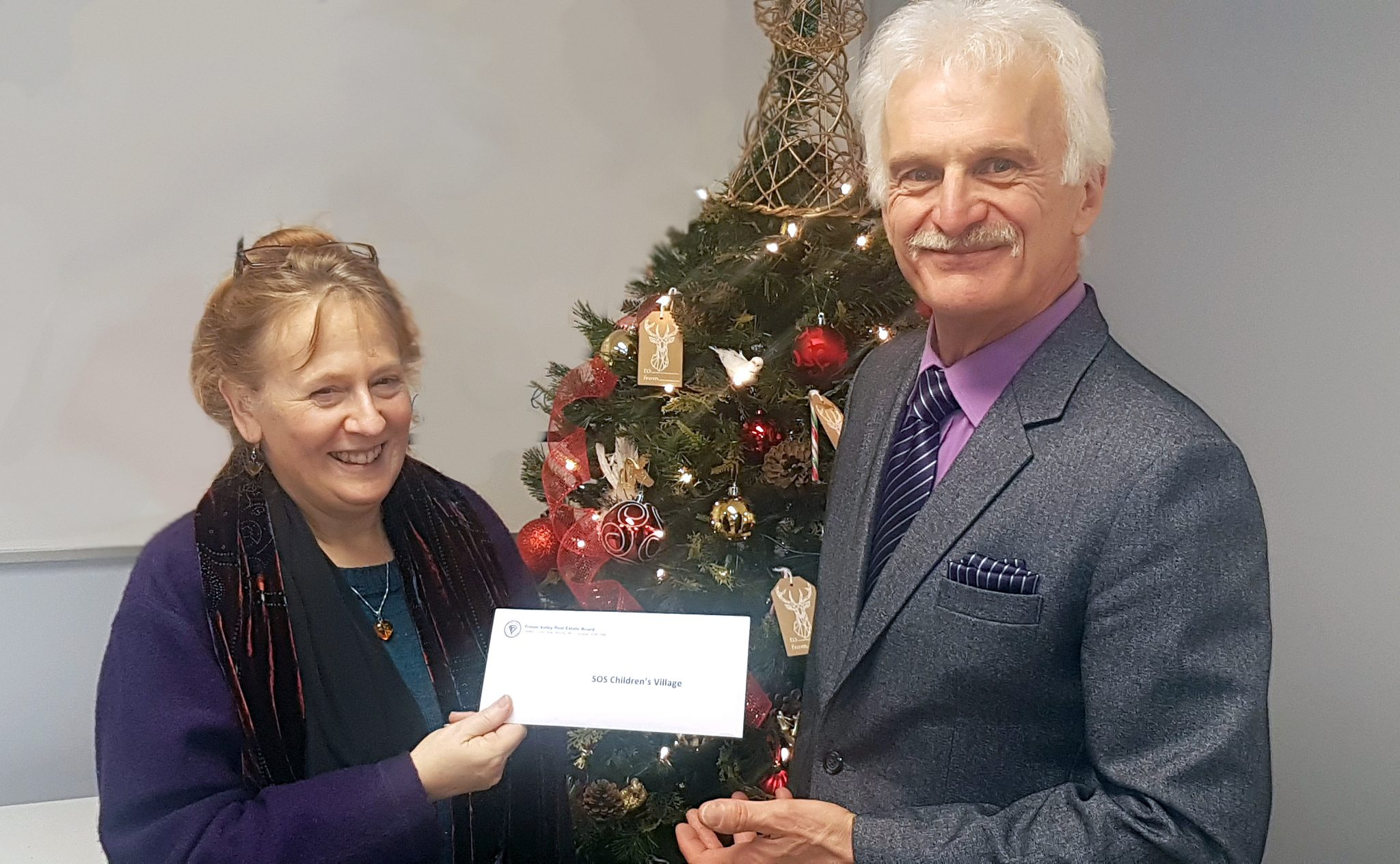 Fraser Valley REALTORS® donate $5,000 to SOS Children's Village BC